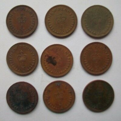 9 1/2 new penny coins