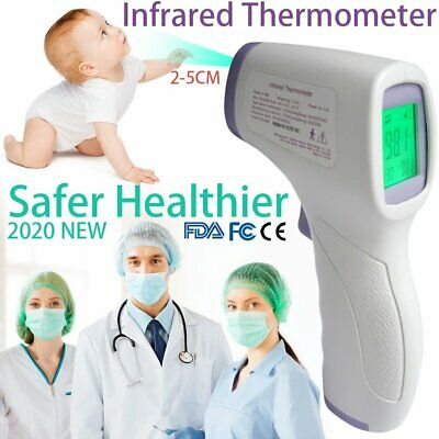 FDA ! USA LCD Digital Infrared Thermometer Non-contact Temperature Ear Forehead
