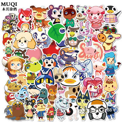 Animal Crossing New Horizons Tom Nook beaver Luggage Laptop Stickers Lot 50pc