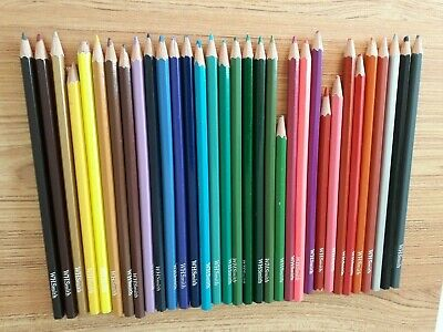 WH Smith 33 Colouring Pencils - Used
