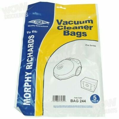 Electruepart Bag 244 Vacuum Dust Bags to fit Morphy Richards Jive 73150 (Pack of