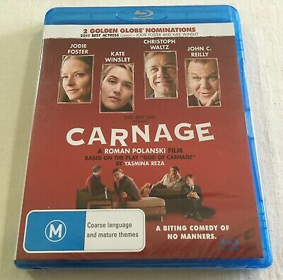 Carnage (2011) - Blu-Ray Region B/A   New   Jodie Foster   Kate Winslet