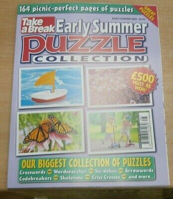 TakeA Break Puzzle Collection magazine Early Summer 2020 Crossword wordsearch