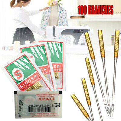 100 Pcs/Pack Sewing Machine Needles 9 11 14 16 18 Domestic 2020 HAX1 705H Singer