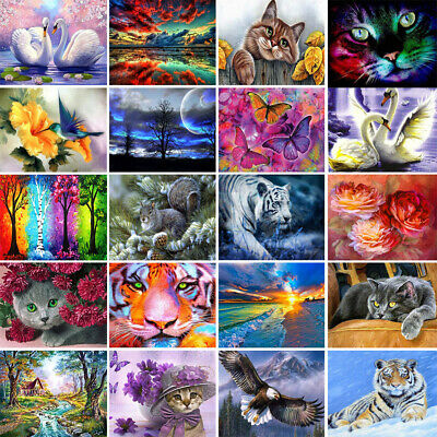 DIY 5D Diamond Painting Animal Cross Stitch Hand Embroidery Art Decor Crafts Kit