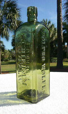 Tumbled - 1880'S Antique Udolpho Wolfe's Aromatic Schnapps Bottle - Super!!!!