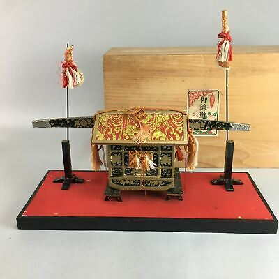 Japanese Hina Doll Lacquer Carriage Stand Palanquin Girls Day Decoration ID221