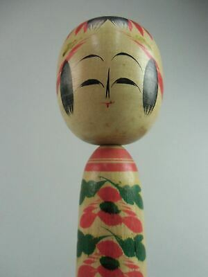 Japanese Wooden Kimono Girl Kokeshi Doll Hand-painted Signed Vtg Ningyo TK8