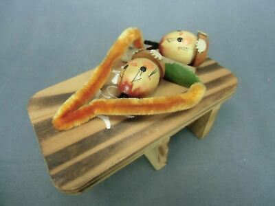 Japanese Geta Child Kokeshi Doll Figurine Wood Ornament Nuts Vtg Ningyo OK710