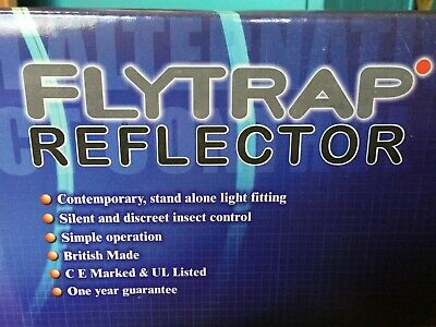 "Nib ""Flytrap Reflector"" For Insect Control W/Gluepad Light Traps & Bulb #Ft25"
