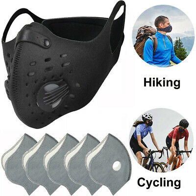 Cycling Face Half Cover Carbon Anti-Dust Outdoor Running Mouth Shield w/ Filter
