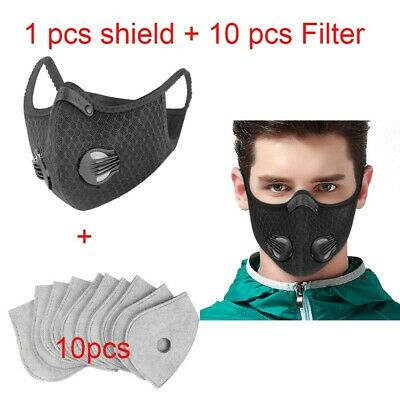 Super Anti Dust Cycling Bicycle Bike Motorcycle face shield Half Scarf 10 Filter