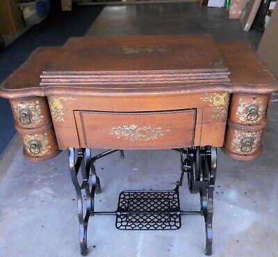 Antique New Florence Treadle Sewing Machine