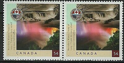 #2332 * Se-tenant Pair * MNH * Boundary Waters Treaty *