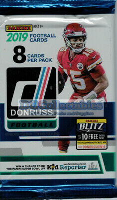 2019 Panini Donruss Football Sealed Pack Unsearched Nfl Brand New Aussie Seller!