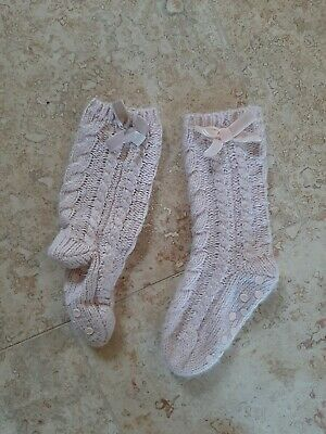 Next Girls Slipper Socks Size 6-8.5