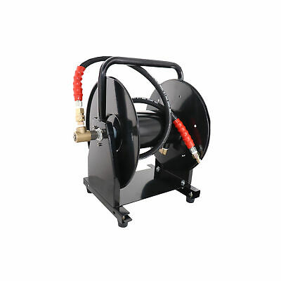 "5000 PSI 3/8"" x 200' Hose Reel for High Pressure Power Washer and Sewer Jetter"