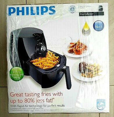 Philips HD9220/20 Healthier Air Fryer with Rapid Air Technology, Black