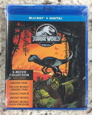 Jurassic World 5 Movie Collection (Blu-ray + Digital) New, Free Shipping