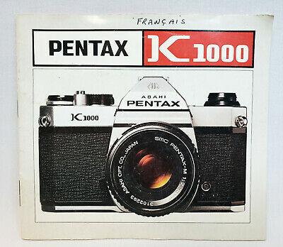 Pentax K1000 Manual Instruction Book - French