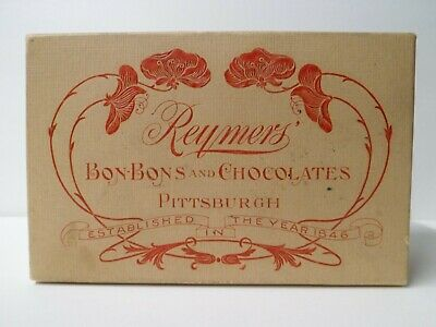 Antique Reymers' Bon-Bons and Chocolates Candy Box Pittsburgh PA