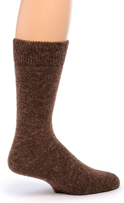 Mocca Womens Alpaca Socks with cuff Pair Light Brown Made In Italy