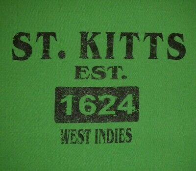 ST. KITTS, WEST INDIES - Men's size 2X - Graphic T-Shirt