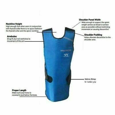 DENTAL X RAY PROTECTIVE APRON LEAD VEST COVER 0.5mmPB SHIELD RUBBER GOOD QUALITY