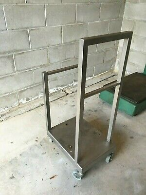 All welded Stainless Steel heavy duty portable autoclavable lab cart