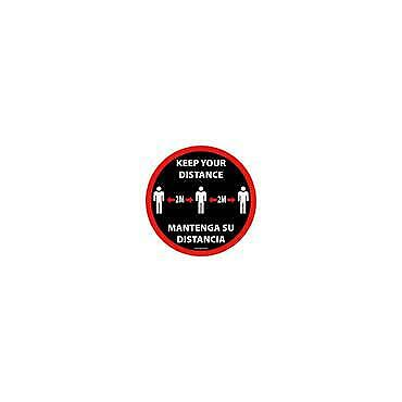 Social Distancing Floor & Wall Sign Keep your distance Black/red