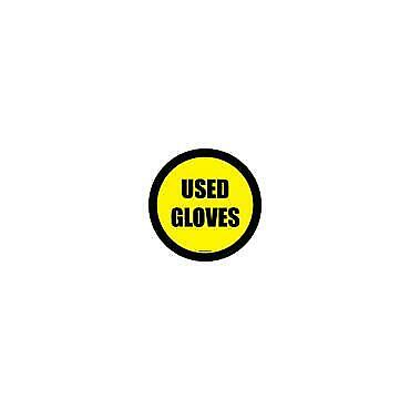 Social Distancing Floor & Wall Sign Used Glove Yellow/Black