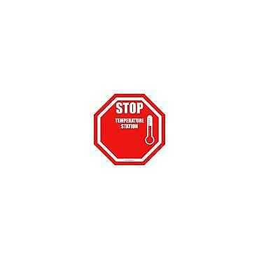 Social Distancing Floor & Wall Sign Stop Temperature Station