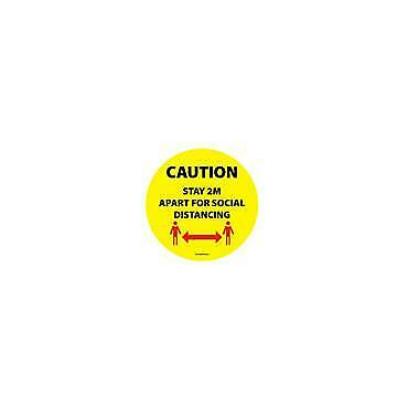 Social Distancing Floor & Wall Sign Caution Stay 2m apart for social distancing