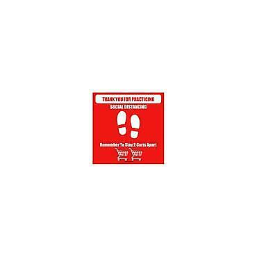 DS Sign - (SD Graphic Option B) 10cm Thank you for practicing social..