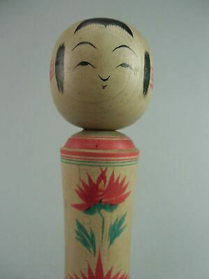 Japanese Wooden Kimono Girl Kokeshi Wood Hand-painted Signed Vtg Ningyo TK14
