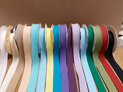 """Fany - Poly Cotton Bias Binding Tape 1"""" (25mm) lots of colours 2m, 5m 10m"""