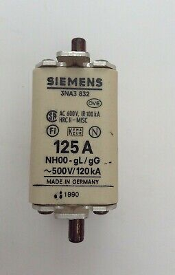 Box x2 SIEMENS HRC-FUSE LINKS 3NA3 832 125A HRC11-MISC 1990