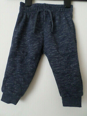New Baby Boys Blue Primark Joggers Jogging Bottoms Age: 9-12 Months 80cm