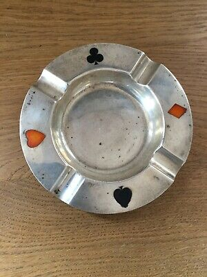 Antique Solid Silver Ashtray London 1923