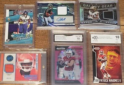 NFL Football Hot Pack Auto Jersey Bgs Encased Card Lot Hit Rookie Grab Bag Rd 8