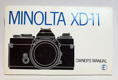 Minolta XD-11 Owners Manual Instruction Book - English