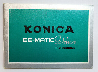 Konica EE-Matic Deluxe Owners Manual Instruction Book - English