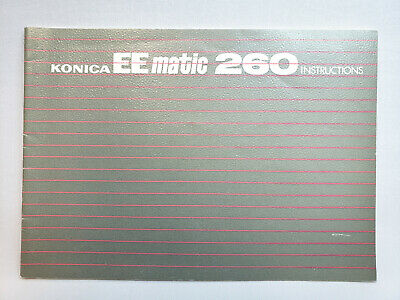 Konica EE-Matic 260 Owners Manual Instruction Book - English
