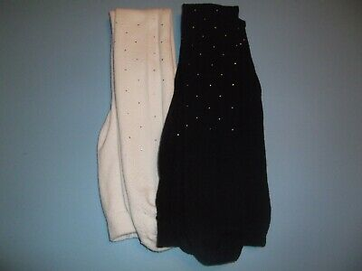 2x girls tights with faux diamonds 7-8yrs Primark