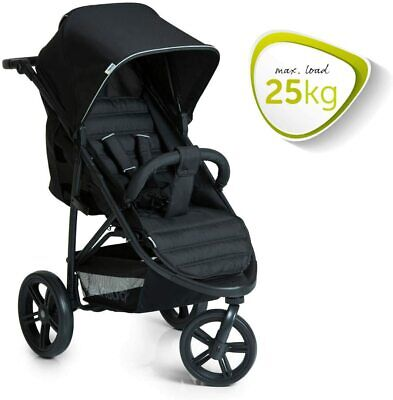 New Hauck Rapid 3 Wheeler One Handfold Pushchair Buggy Black Pram+Raincover