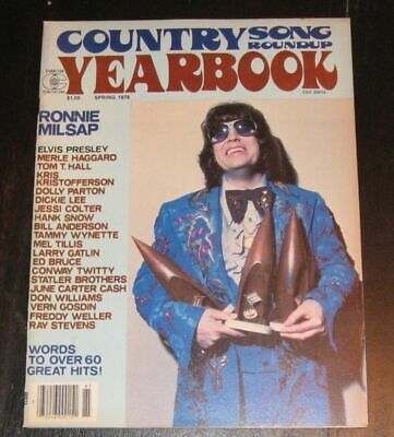 Country Song Roundup Yearbook magazine RONNIE MILSAP Spring 1978 Jessi Colter