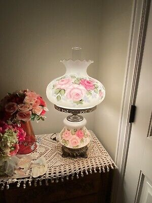 """LARGE ANTIQUE VICTORIAN STYLE GONE WITH THE WIND ELECTRIC LAMP - Approx 27"""""""
