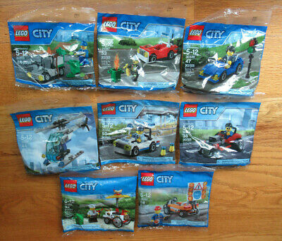 LEGO CITY polybags lot of 8- 30313 30347 30349 30351 30352 30354 30356 30357-new