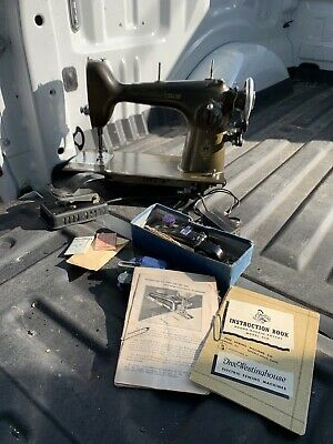 RARE Free Westinghouse Sewing Machine Type E Vintage w/ Instructions & Extras!