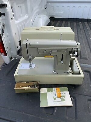 Sears Kenmore Vintage Sewing Machine Model 1214 With Instructions & Case